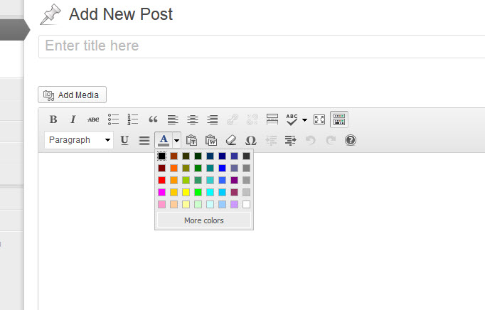 10 - barra di formattazione -  colori del testo