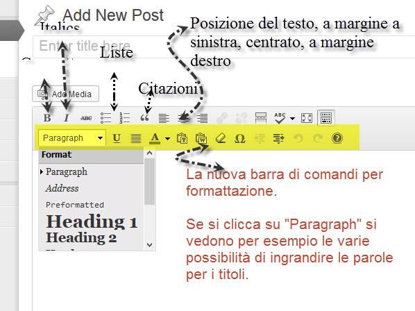 9 - barra di formattazione - dettagli